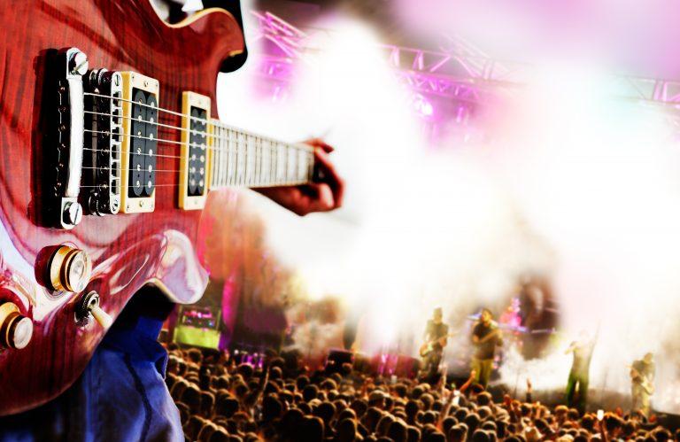 rock concert guitar