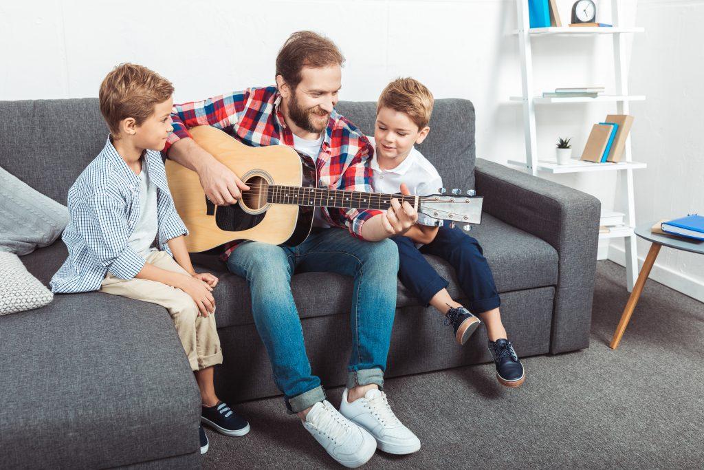 kids and guitar