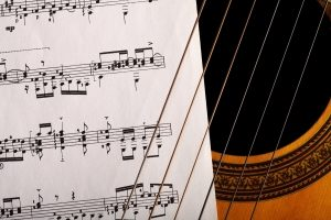 classical guitar with music