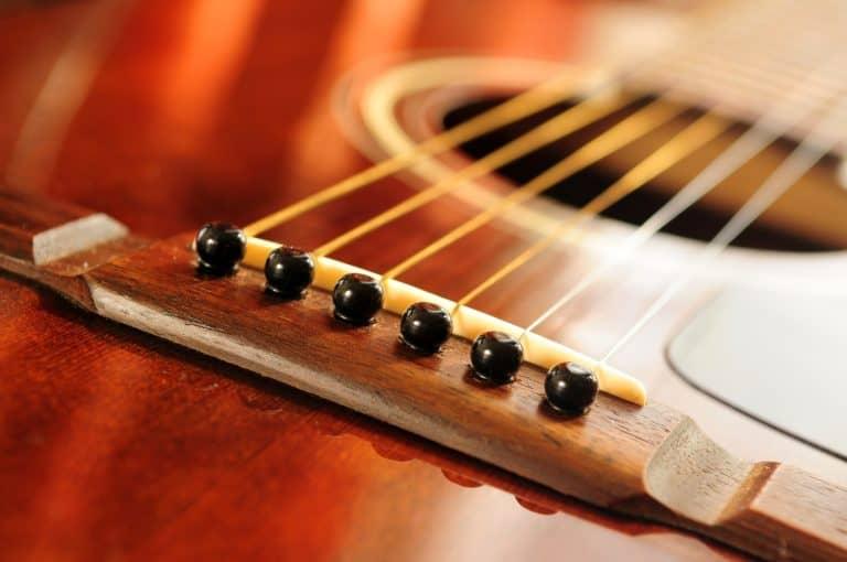 Acoustic guitar bridge pins