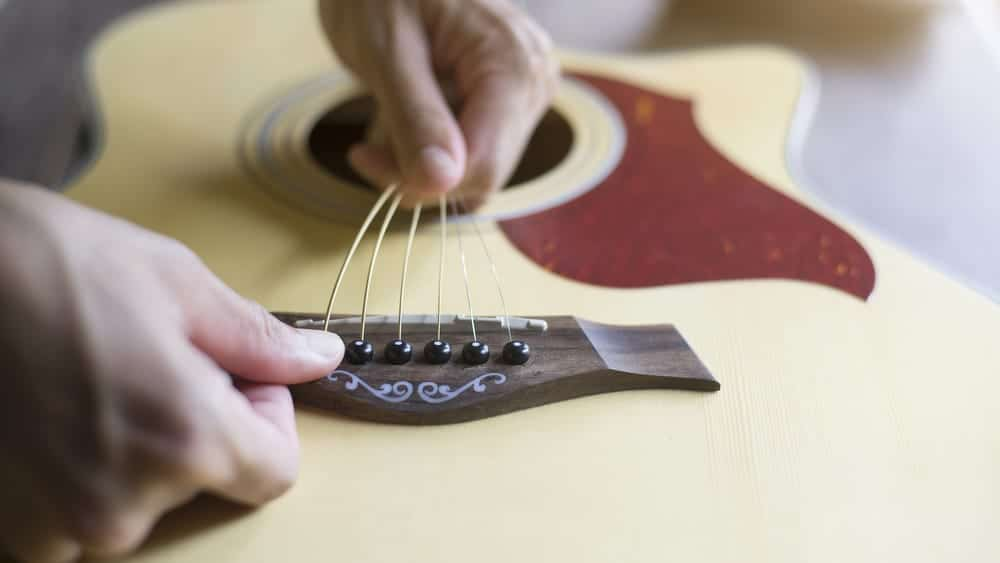 Acoustic Guitar Restringing