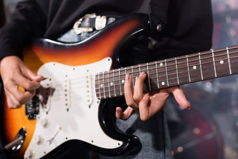different electric guitar parts
