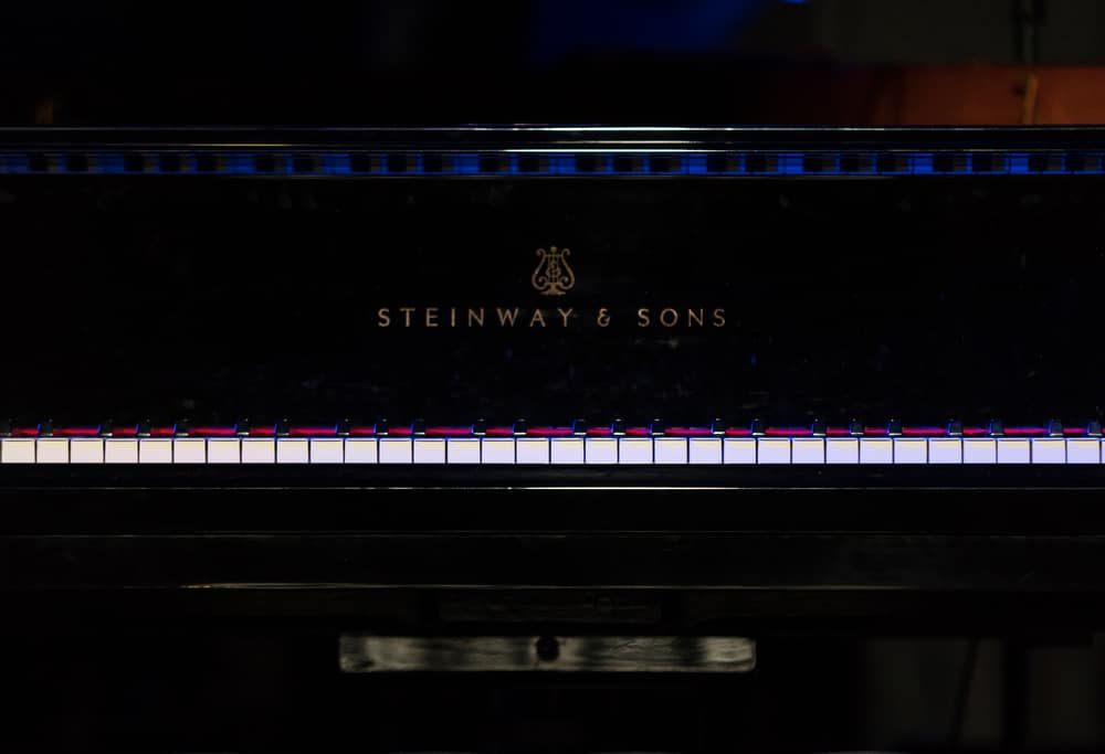 Keys of Steinway Grand Piano at the Summer Jazz Festival in Krakow. Poland