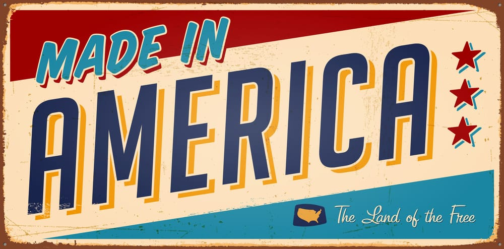 Made in America sign