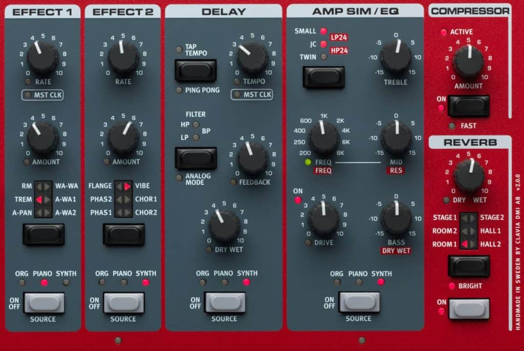 Nord Stage 3 Effects Section