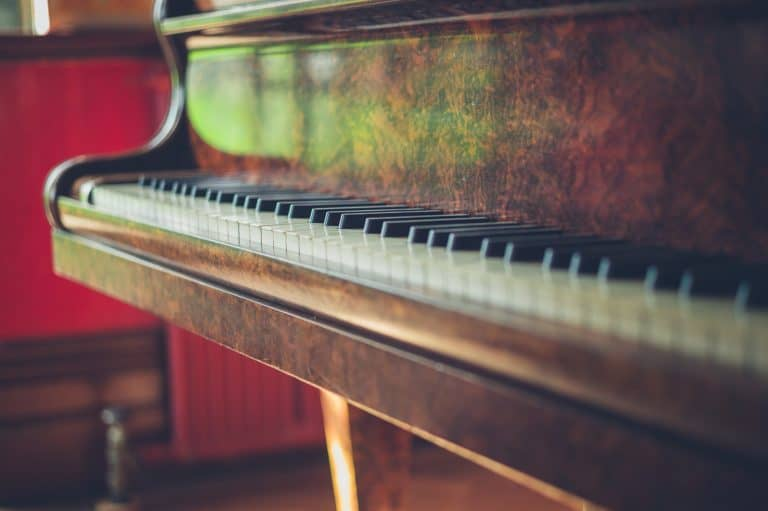 Old piano in the sunshine